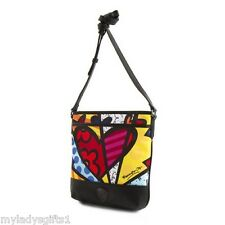 Heys Romero Britto A New Day Hearts Crossbody Bag Purse World wide shipping