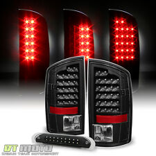 Blk 2002-2006 Dodge Ram 1500 2500 3500 LED Tail lights +LED 3rd Brake Cargo Lamp