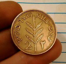 Palestine 1941 deux mils 2 mils high grade moyen-orient arabe bronze coin km 2