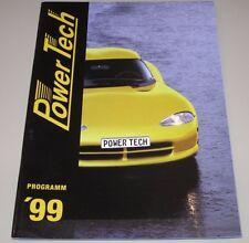 Auto Prospekt Power Tech Programm Alufelgen Sportfahrwerk Zubehör Auspuff 1999