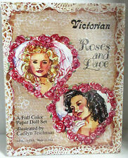 Victorian Roses and Lace Paper Doll Set by Carilyn Teichman, Boxed and Sealed