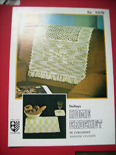 VINTAGE CROCHET CHAIR BACK & PLACE MAT & GLASS MAT CROCHET PATTERN