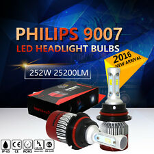 25200LM PHILIPS 252W LED Headlight Kit HB5 9007 High/Low Beam 6000K Bulbs Pair