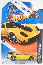 2010 Hot Wheels HOT AUCTION #164 * CALLAWAY C7 * ROL MF YELLOW VARIANT USLC