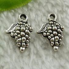 free ship 200 pcs tibet silver grape charms 18x13mm #3550