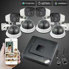 H.264 8CH DVR 1200TVL CCTV Indoor/Outdoor Surveillance Security Camera System