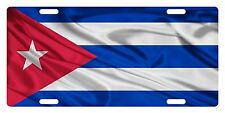 CUBA Flag Custom License Plate Cubano Emblem Wave Version