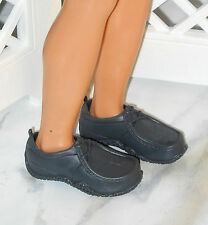 SHOES Barbie Rebelde Miguel Ken Gray Hush Puppies Faux Laces Cool Textured Soles