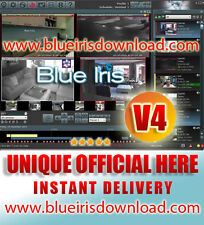 Blue Iris Pro v4.0 (Latest) Video Camera Security Software - Full Life License
