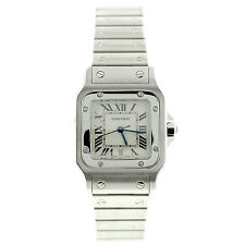 New Cartier Mens Santos Galbee Stainless Steel Watch Ref W20060d6