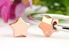 ROSE GOLD PLATED STAR CHARM BEAD FOR BRACELET OR NECKLACE