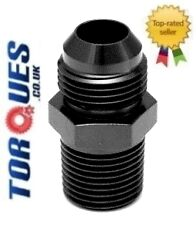 "AN -10 (10AN JIC AN10 AN 10) to 3/4"" NPT Straight Adapter in Black"