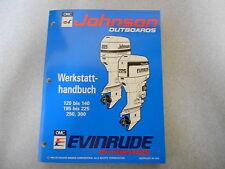 """Werkstatthandbuch Johnson / Evinrude Außenborder """" ER """" 90° LV 120 - 300 PS 1994"""
