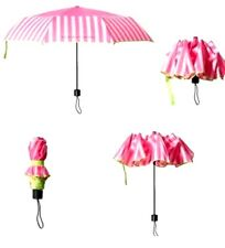 VICTORIA'S SECRET PINK STRIPED FOLDABLE COMPACT UMBRELLA LIMITED EDITION