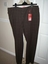 BNWT S. OLIVER BROWN TROUSERS IN SIZE EUR 46 UK 20L WAS £60