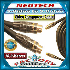 10m Metre High Quality NEOTECH S-Video to S-Video Cable For TV VCR DVD SAT AMP