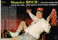 Coupure de Presse Clipping 1982 (2 pages) Maurice Risch