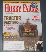 HOBBY FARM MAGAZINE MAY/JUN 2016 TRACTOR FACTORS BUILD A PERFECT BARN CATTLE