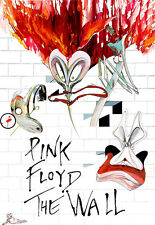 Pink Floyd - The Wall High Quality Canvas Art Print A4