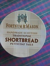 empty fortnum and mason shortbread tin 2006