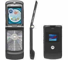 Motorola RAZR V3 Unlocked flip Mobile Phone Black Grade B With Warranty
