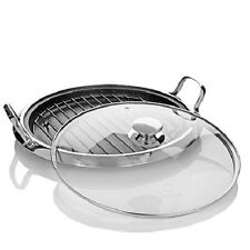 "Curtis Stone DuraPan Nonstick 12"" Multipurpose Pan with Rack & Lid"