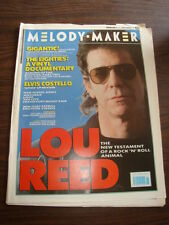 MELODY MAKER 1989 FEBRUARY 11 LOU REED ELVIS COSTELLO NEW MODEL ARMY ANTHRAX