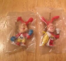 "Domino's Pizza Vintage 1987/88  ""Avoid the Noid"" Ad Figurines Set Of 2 Sealed"