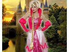 Perruque Longue Blonde Princesse Raiponce Déguisement Adulte Femme Médiévale