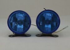 "2PCS 4"" ROUND FOG/DRIVING LIGHTS/LAMP FOR CAR/TRUCK/SUV FRONT BUMPER BLUE LENS"
