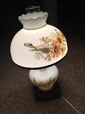 Vintage Antique Globe Gone With The Wind  Parlor Hurricane Lamp Light Brass Dome