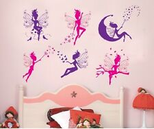 6 Magic Morado De Hadas Calcomanías De Pared Vinilo Niños Dormitorio Infantil 50cm X 70cm