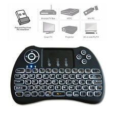 High Quality Backlit Mini 2.4G USB Wireless Keyboard Touchpad for Smart TV Box