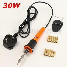 30W Pyrography Tool Wood Burning Welding Electric Soldering Pen Iron + 10 Tips