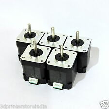 Set of 5 x  Nema 17 Stepper Motors for 3D Printers/CNC Machines/Robotics