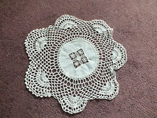 Collectible Handmade Crocheted Doily Table Linen Off White 11 Inch NICE