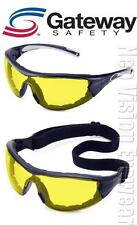 Gateway Swap Yellow Anti Fog Padded Safety Glasses Hybrid Goggles Night Z87+