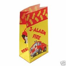 12 Fire Fighter Man Truck Paper Bags Kid Party Goody Loot Treat Favor Supply