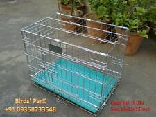 Imported Chrome Dog cage portable for pups or for any small animals (18 inch)