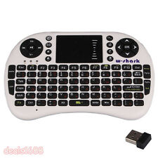 Ruso Teclado Inalámbrico Aire Ratón Touchpad USB For Android TV Box Blanco