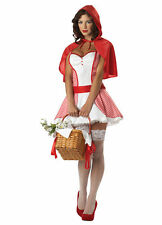 MISS RED RIDING HOOD DRESS w/CAPE ADULT HALLOWEEN COSTUME SIZE LARGE