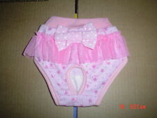 Cute Pink Dog Knickers Panties Season Knickers Tutu Bow Medium