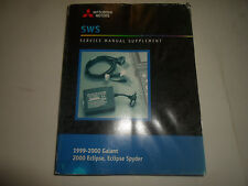1999 00 MITSUBISHI Galant Eclipse Spyder Service Manual Supplement WATER DAMAGED