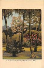 IN THE GROUNDS OF ST. HILARY'S SCHOOL TRINIDAD BRITISH WEST INDIES BWI POSTCARD