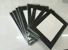 """10 x Professional Picture Framing Mat Boards 6x8"""" with 6x4"""" Window Mount Kits"""