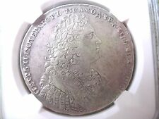 Russia , ORIGINAL  SILVER 1 ROUBLE 1728, Peter II , VERY RARE !