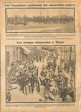 London Soldiers Canada British Army King George V/Deutsches Heer Theux WWI 1914