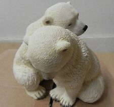 EISBÄR Babys,Tierfigur Arktis,Veronese Kollektion,14 cm Poly Figur
