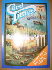 CARD TIMES MAGAZINE FORMERLY CIGARETTE CARD MONTHLY No 149 NOVEMBER 2002