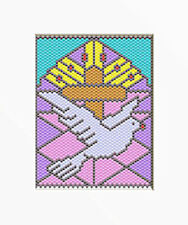 Good News Dove~Large Pony Bead Banner Pattern Only